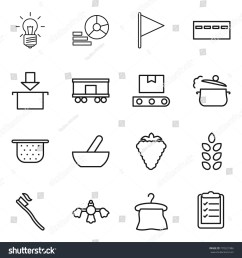 thin line icon set bulb diagram flag bunker package railroad [ 1500 x 1600 Pixel ]