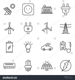 thin line icon set bulb vector air condition welding machine battery  [ 1500 x 1600 Pixel ]