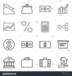 thin line icon set crisis purse money diagram statistics percent [ 1500 x 1600 Pixel ]
