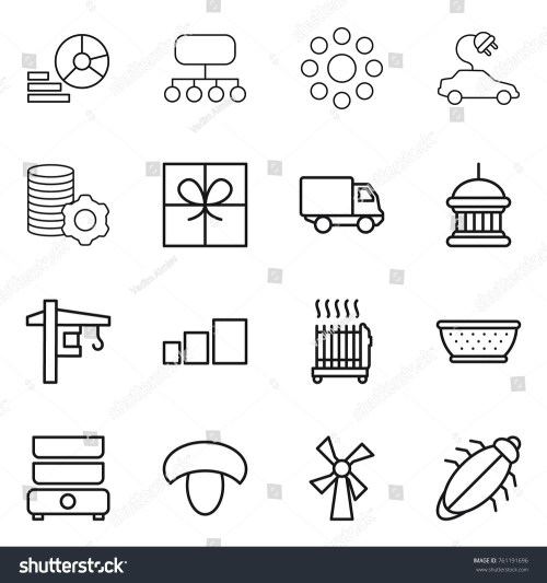 small resolution of thin line icon set diagram structure round around electric car virtual