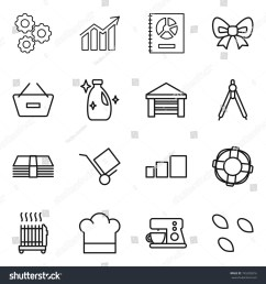 thin line icon set gear diagram annual report bow remove from [ 1500 x 1600 Pixel ]