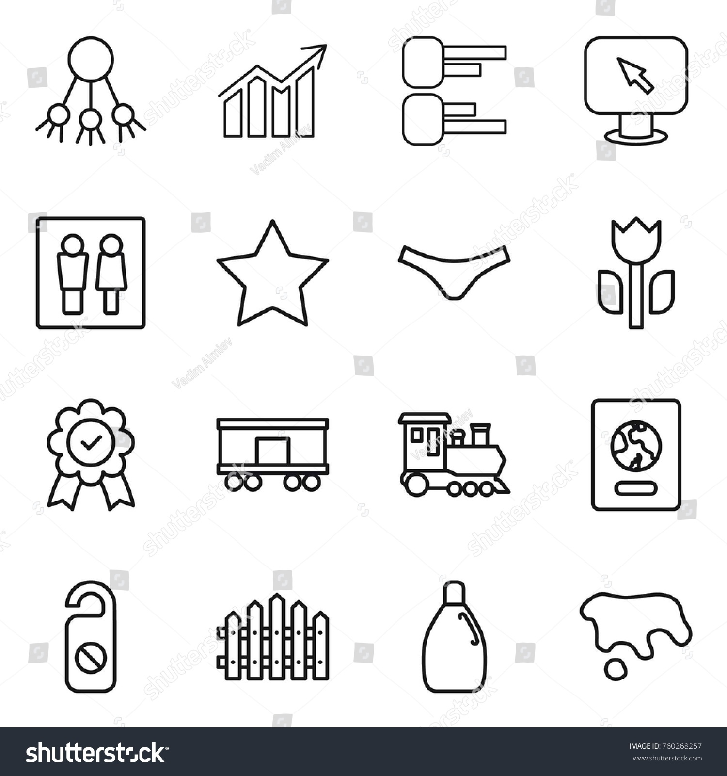 hight resolution of thin line icon set share diagram monitor arrow wc star