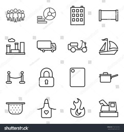 thin line icon set team diagram building fence city shipping [ 1500 x 1600 Pixel ]