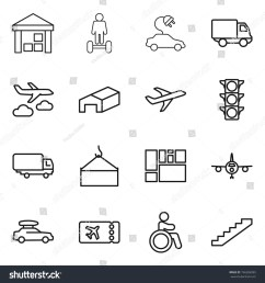 thin line icon set warehouse hoverboard electric car delivery journey plane traffic light shipping loading crane consolidated cargo baggage  [ 1500 x 1600 Pixel ]