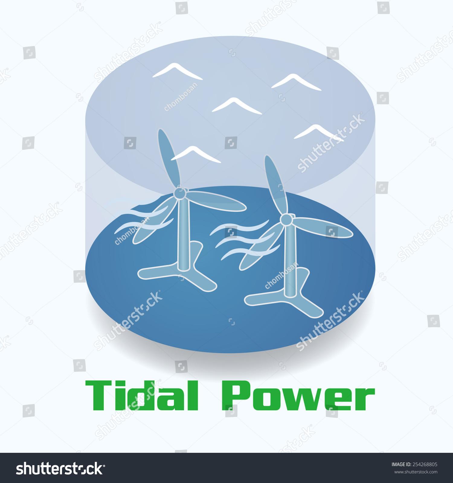 hight resolution of tidal power image illustration