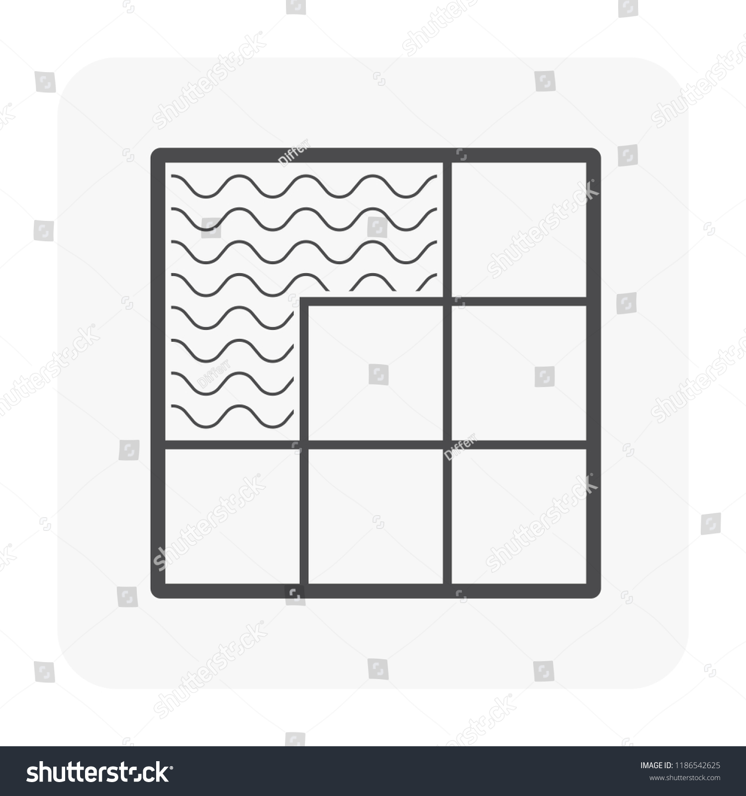 hight resolution of tile floor installation and material icon