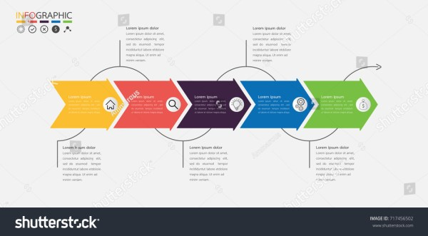 Infographics Timeline Arrow Template