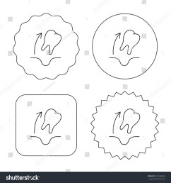 tooth extraction icon dental paradontosis sign flat circle star and emblem buttons  [ 1500 x 1600 Pixel ]