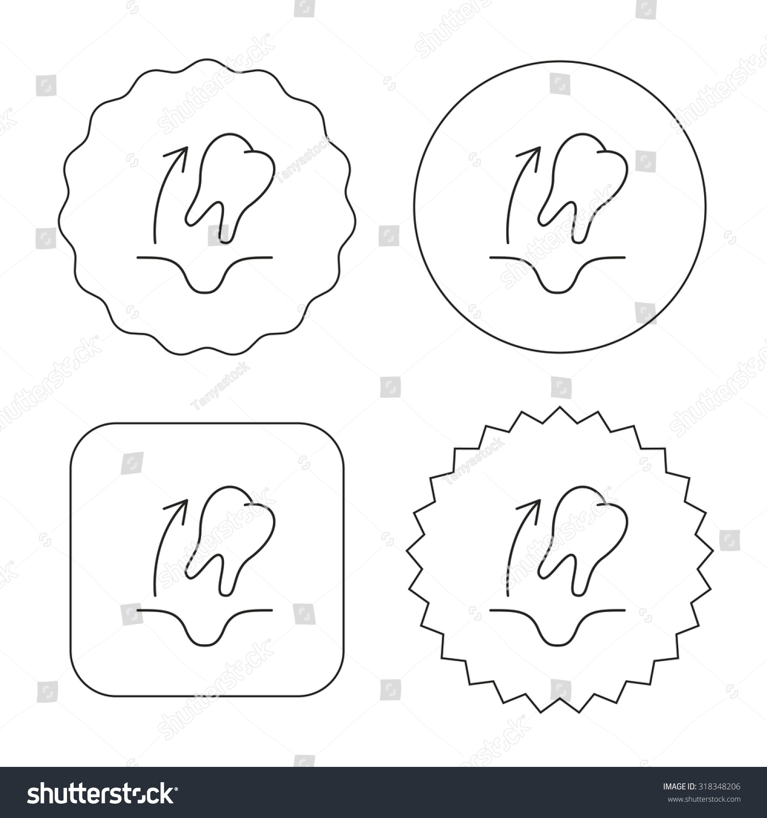 hight resolution of tooth extraction icon dental paradontosis sign flat circle star and emblem buttons