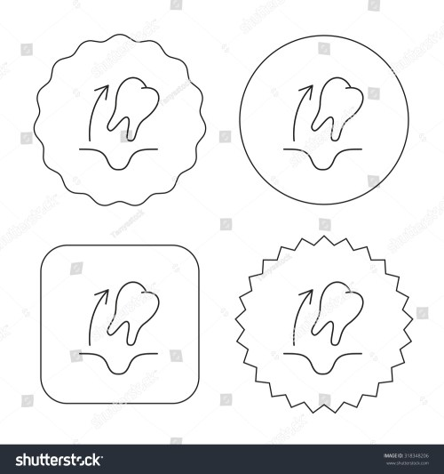small resolution of tooth extraction icon dental paradontosis sign flat circle star and emblem buttons