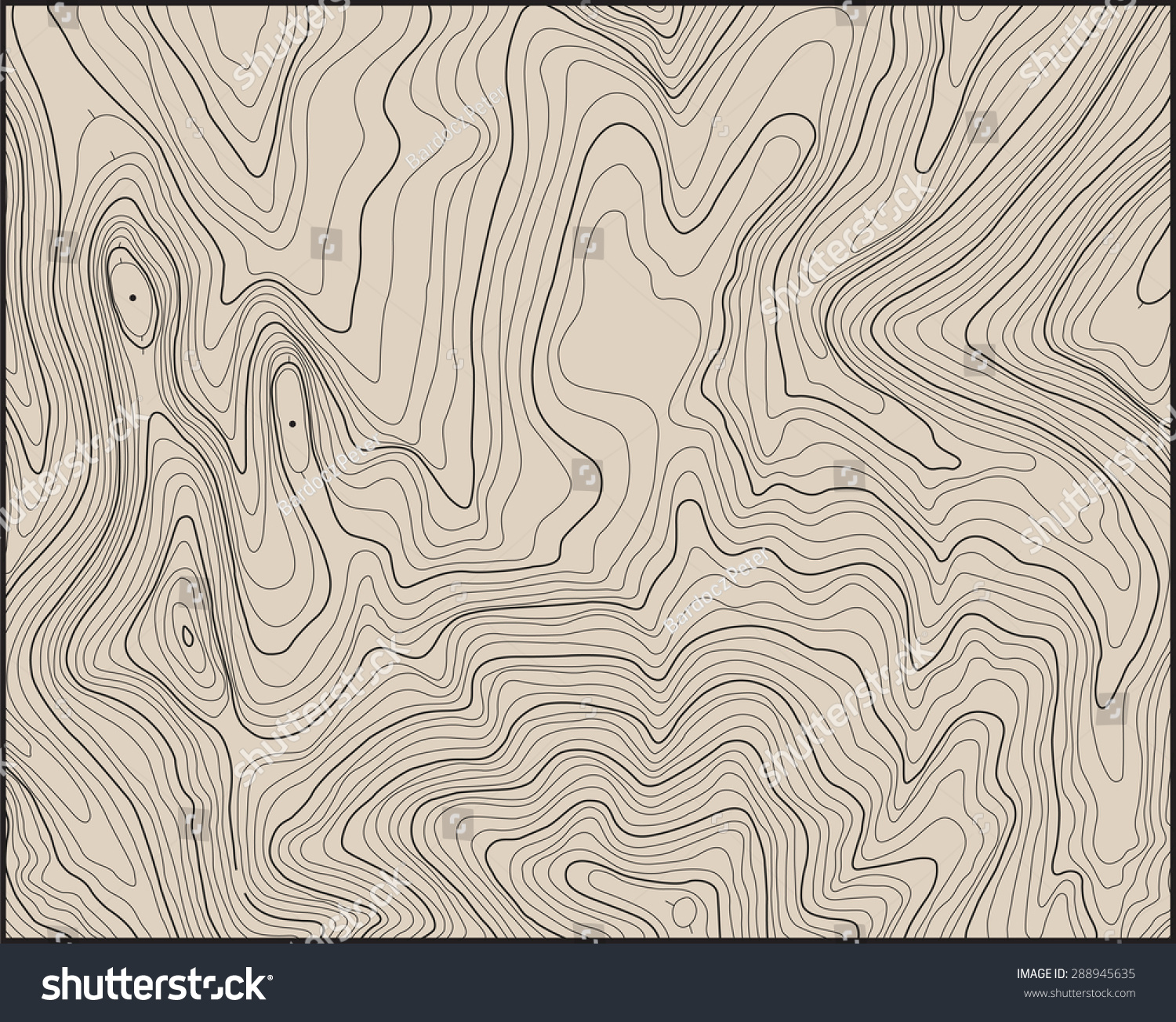 Topographic Map Contour Lines Stock Vector