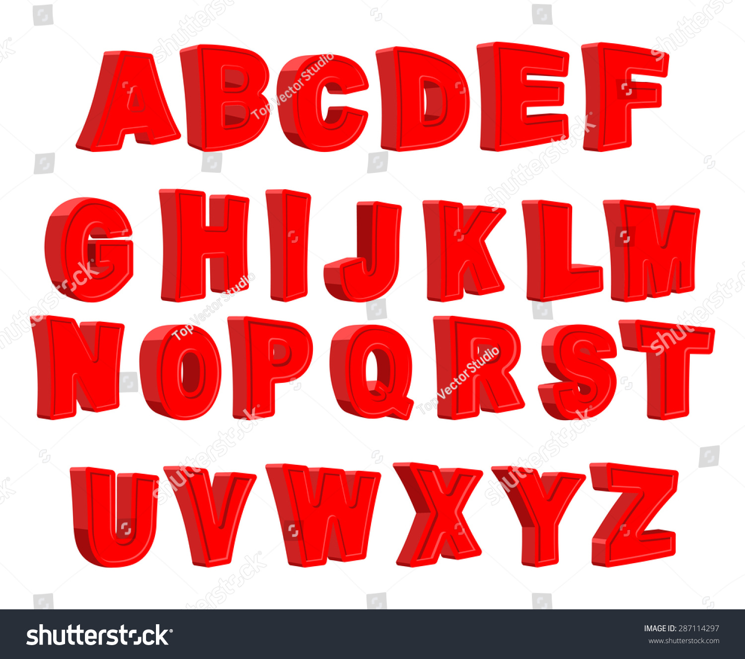 hight resolution of toy letter red alphabet cartoon children abc vector illustration