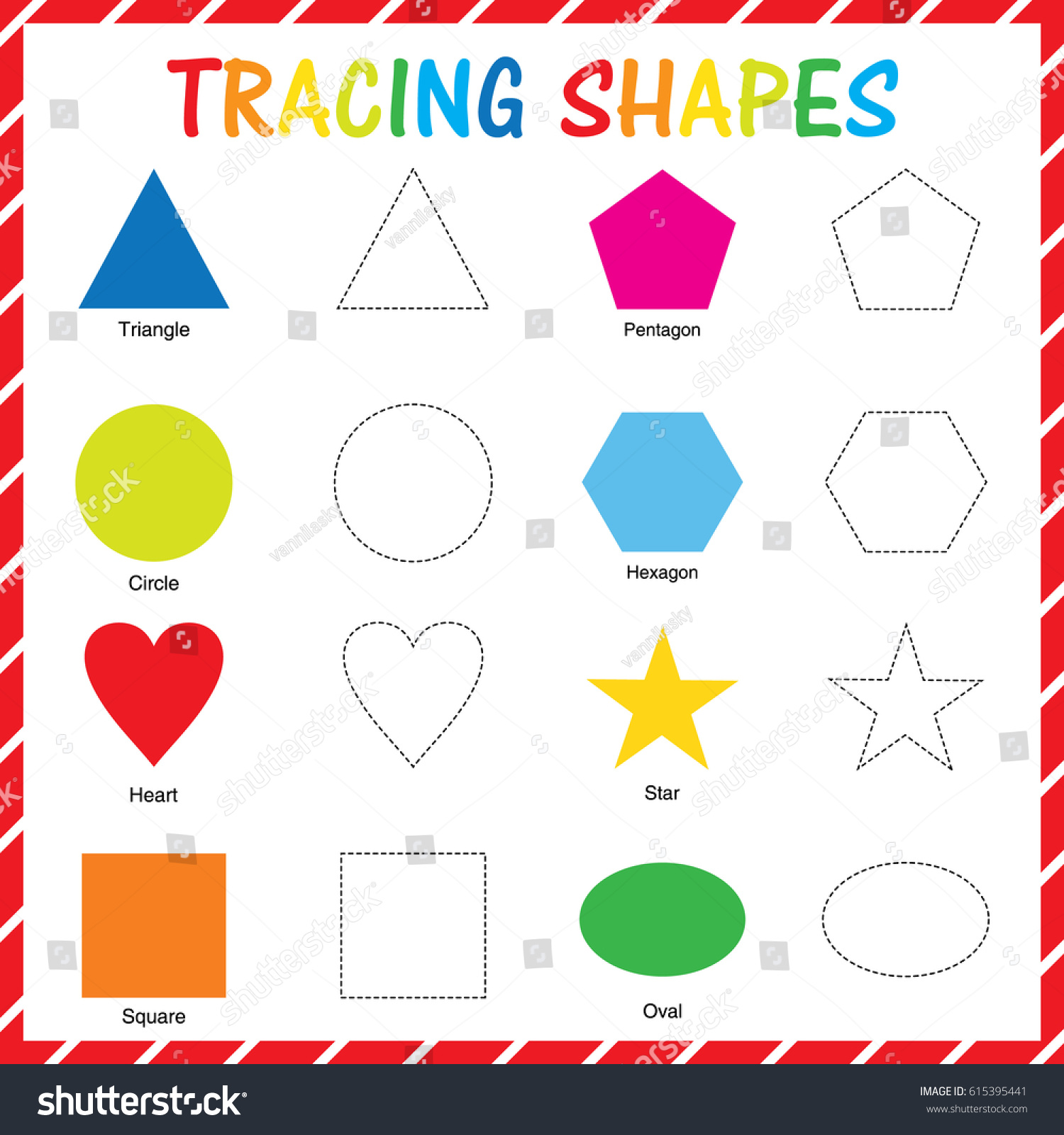 Tracing Shape Stock Vector