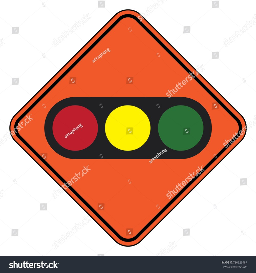 medium resolution of traffic signal symbol sign stop ahead signs traffic light ahead warning vector illustration