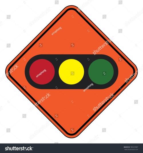 small resolution of traffic signal symbol sign stop ahead signs traffic light ahead warning vector illustration