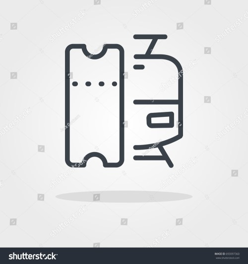 small resolution of tram train ticket fare icon stock vector royalty free jpg 1500x1600 clipart ticket fare