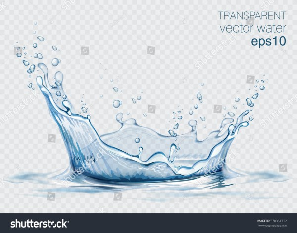Transparent Vector Water Splash Wave Stock