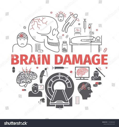 small resolution of traumatic brain injury banner head injury treatment vector signs for web graphics
