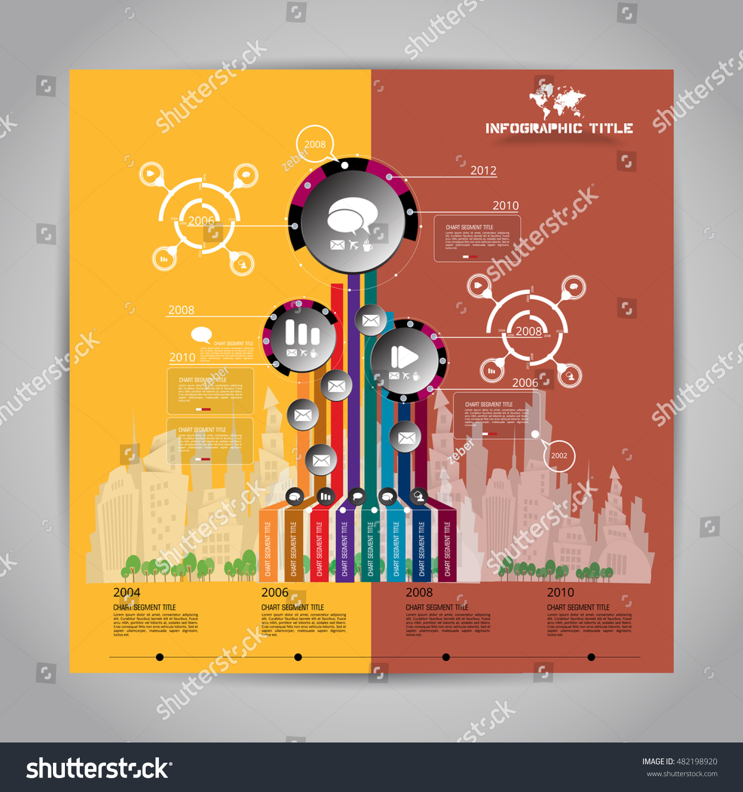 hight resolution of tree diagram concept infographic vector