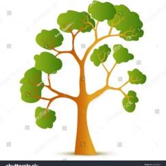 Shrub Graphic Symbols Diagram Curtis Snow Plow Wiring Tree Symbol Design Stock Vector Illustration