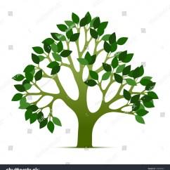 Shrub Graphic Symbols Diagram 48 Volt Club Car Wiring Tree Vector Illustration Green Leafs Nature Stock
