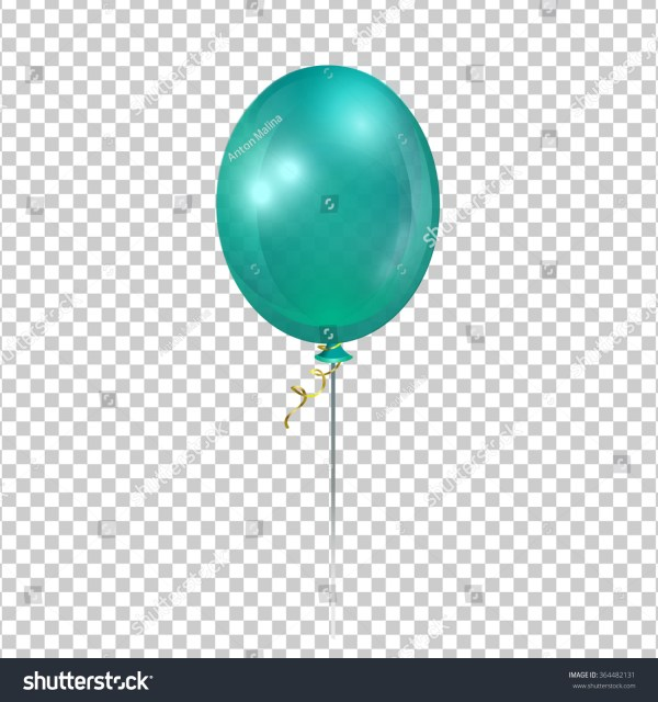 turquoise transparent balloon