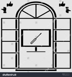 tv repair vector icon [ 1500 x 1600 Pixel ]