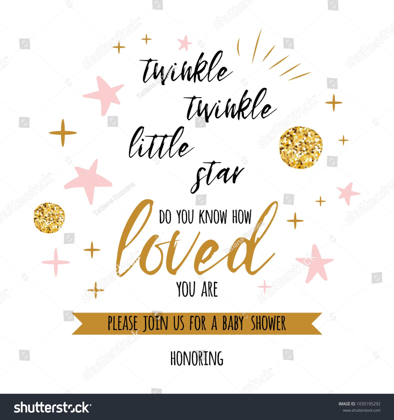https www shutterstock com image vector twinkle little star text cute gold 1035195292