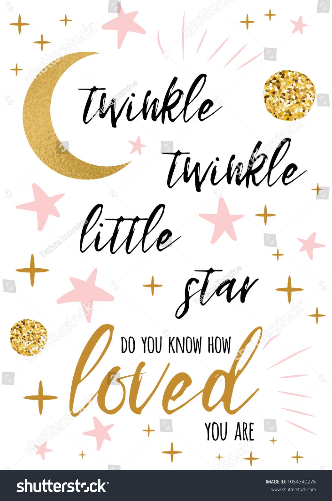 https www shutterstock com image vector twinkle little star text cute gold 1054340276