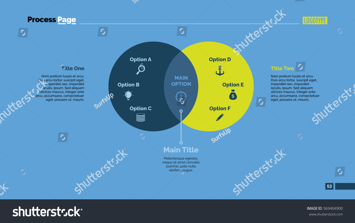 free venn diagram template 2 circles radio wiring for 2005 chevy equinox two slide stock vector