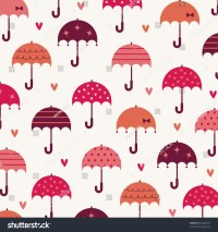 Umbrella With Love Wallpaper Design Stock Vector ...