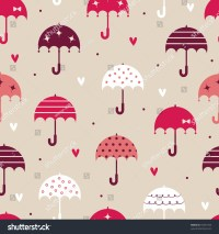 Umbrella With Love Wallpaper Design Stock Vector 55557433 ...