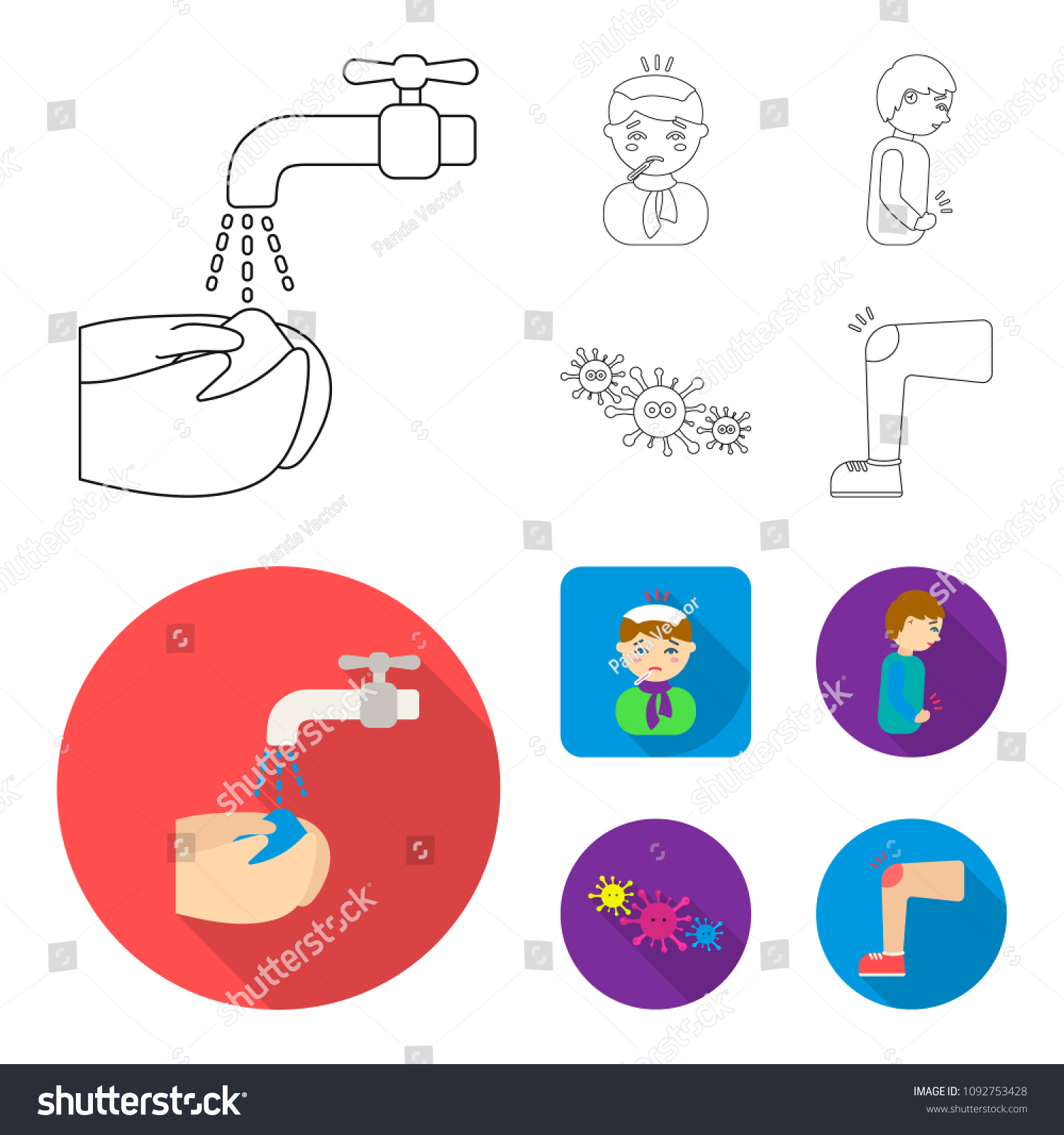 hight resolution of under a tap with water wash their hands the patient with a hot water