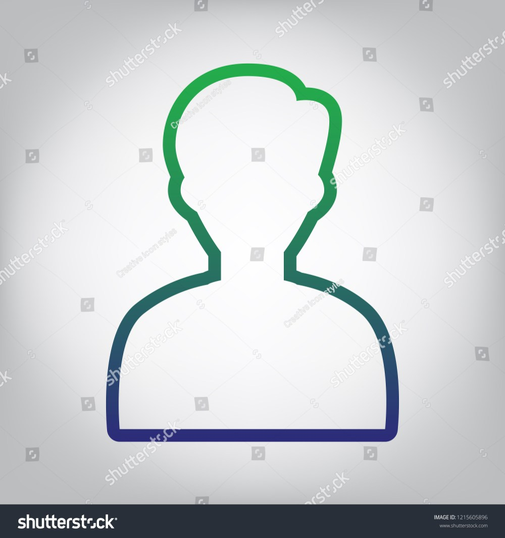 medium resolution of user avatar illustration anonymous sign vector green to blue gradient contour icon at
