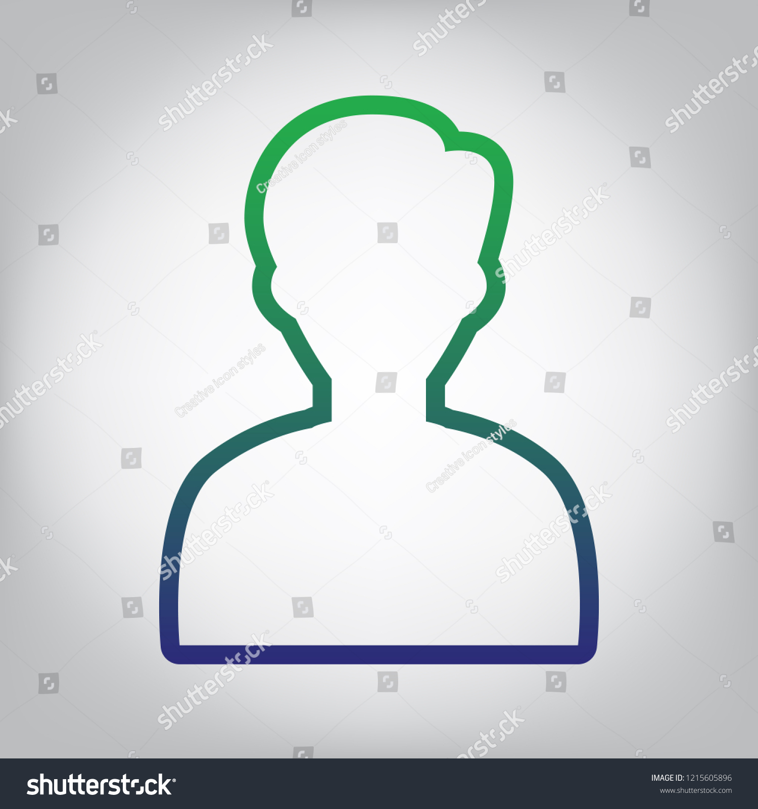 hight resolution of user avatar illustration anonymous sign vector green to blue gradient contour icon at