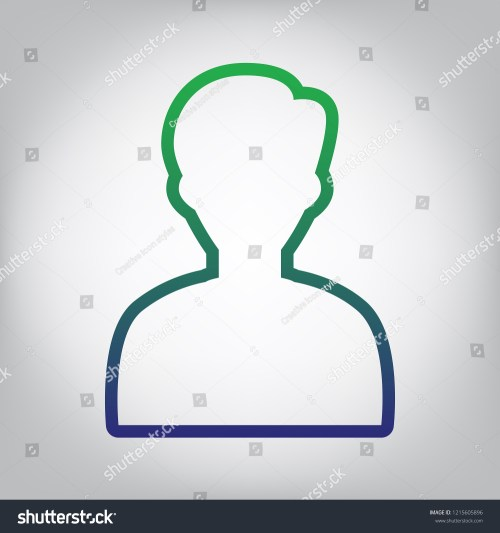 small resolution of user avatar illustration anonymous sign vector green to blue gradient contour icon at
