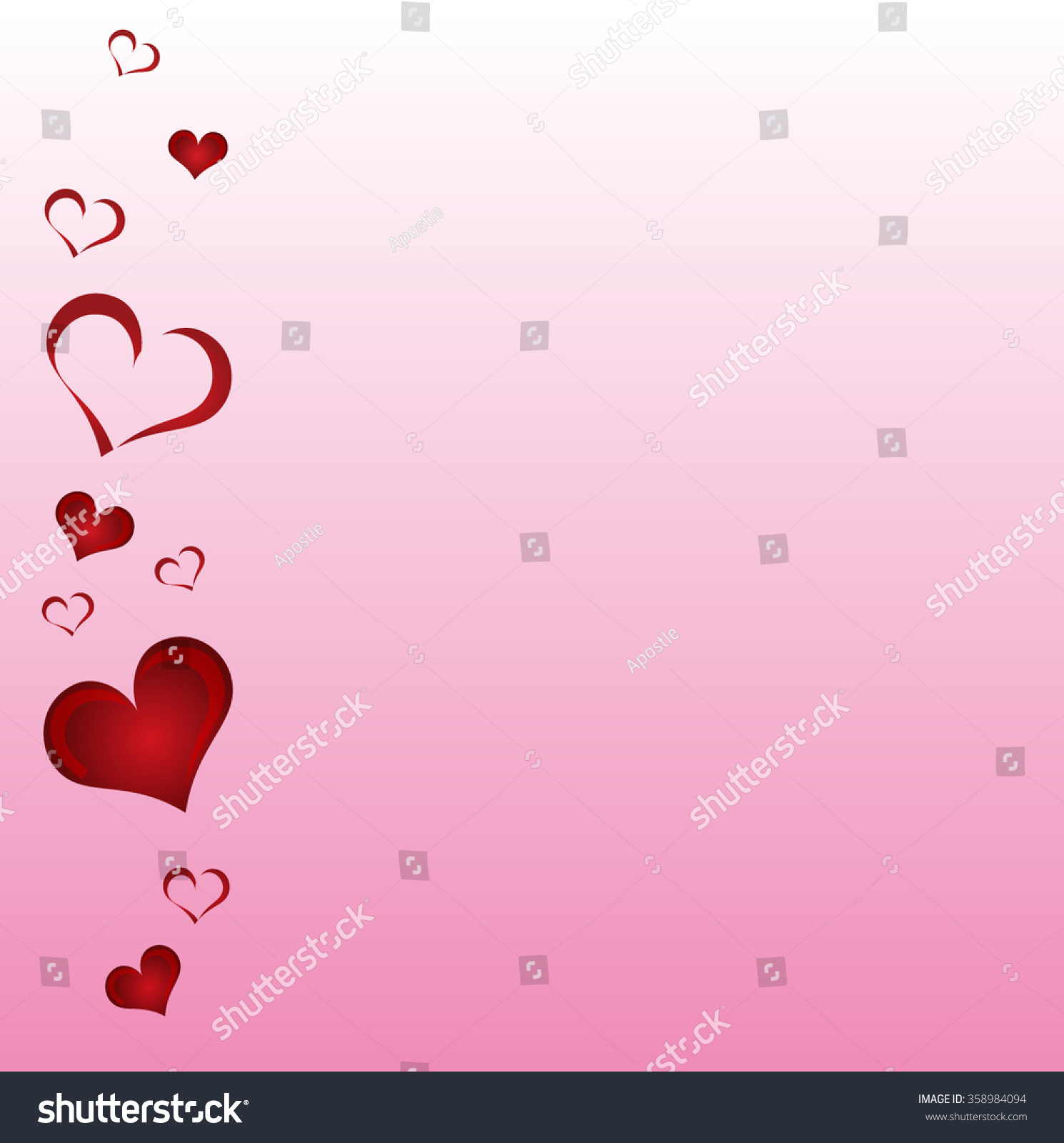 Valentine Day Card Heart Shapes On Stock Vector