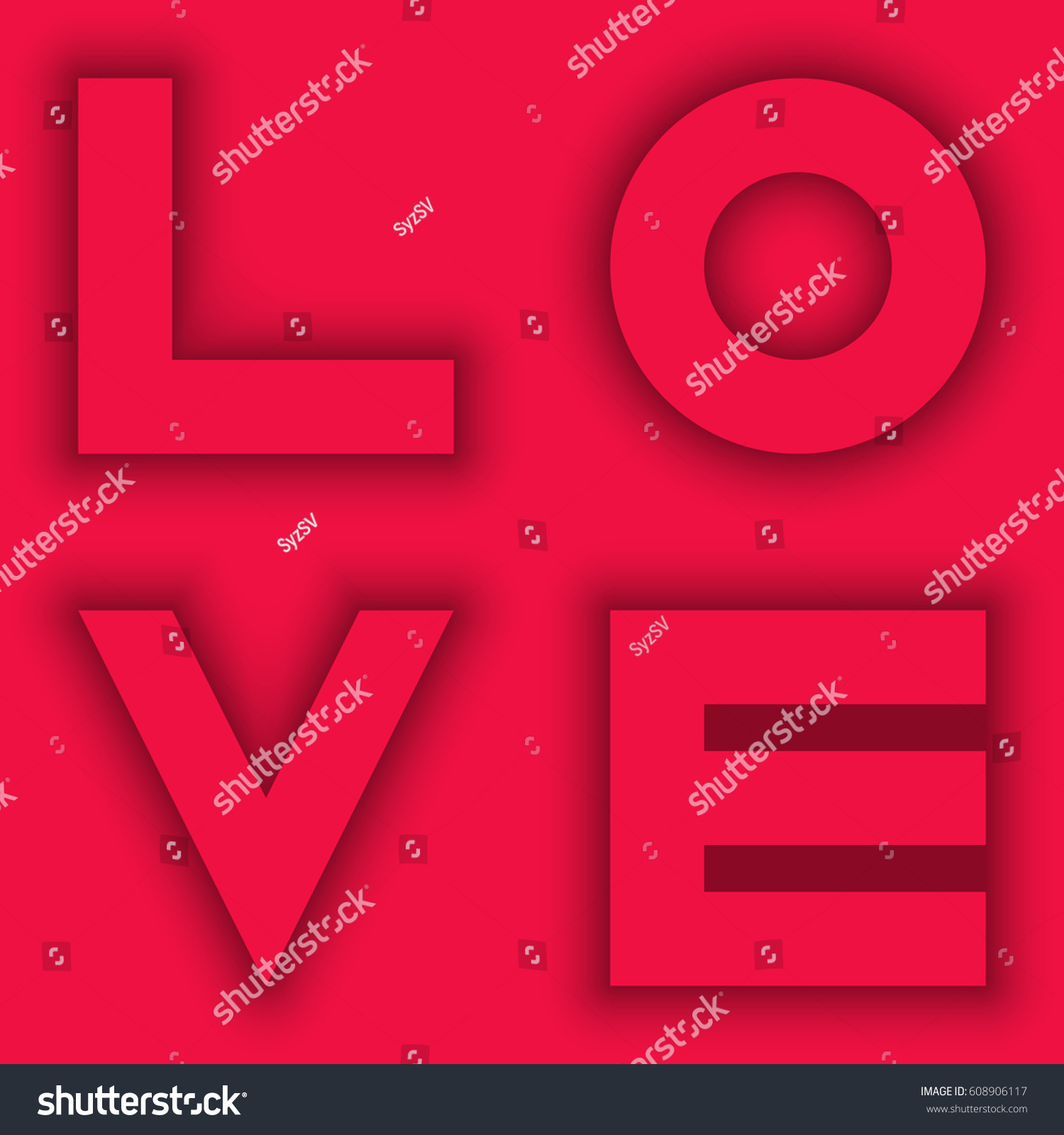 Valentine Day Greeting Card Background Word Stock Vector