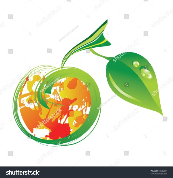 vector abstract apple - 28625854