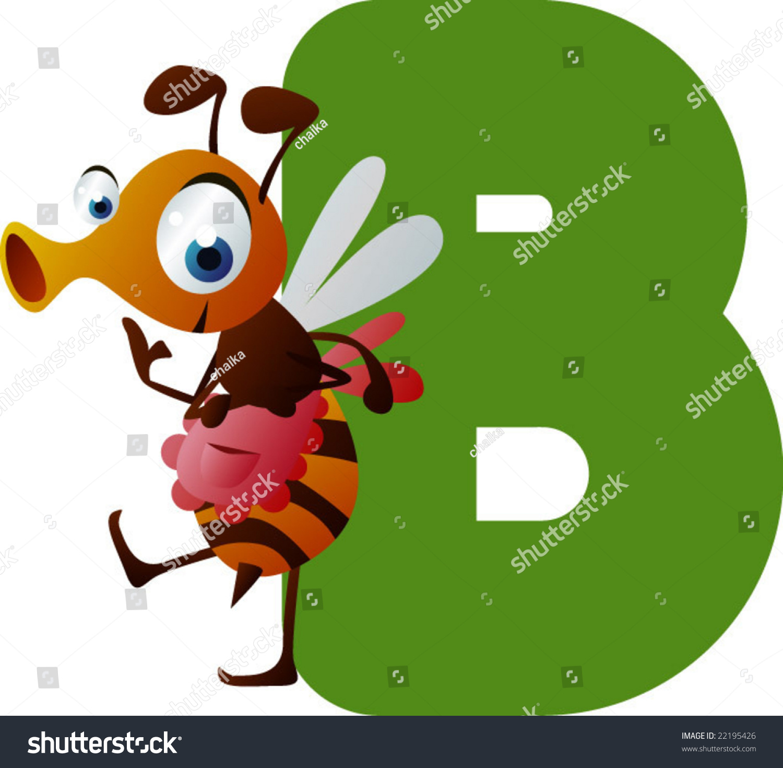 Vector Alphabet B Is For Bee