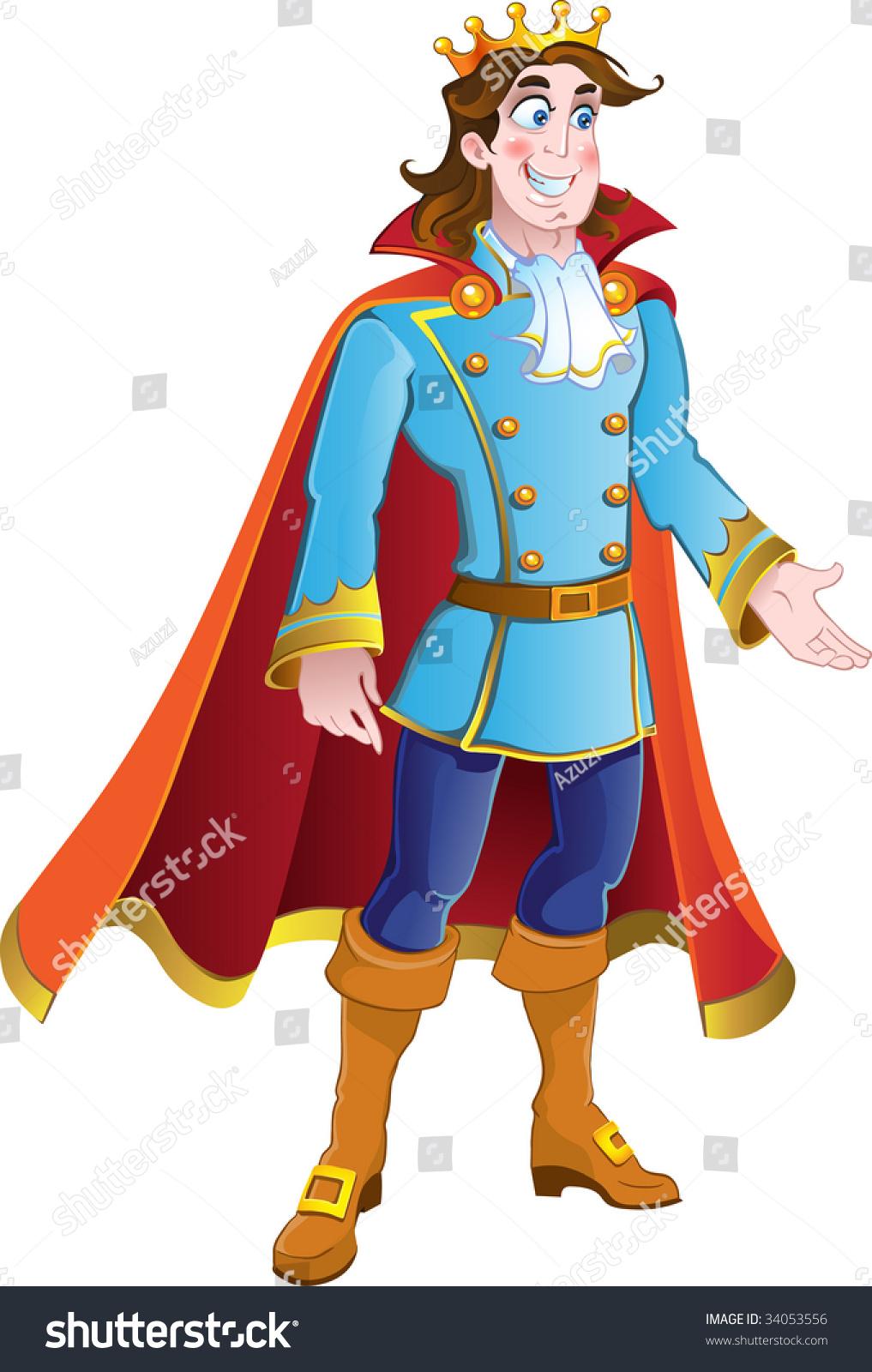 Vector Brunette Prince Charming - 34053556 : Shutterstock