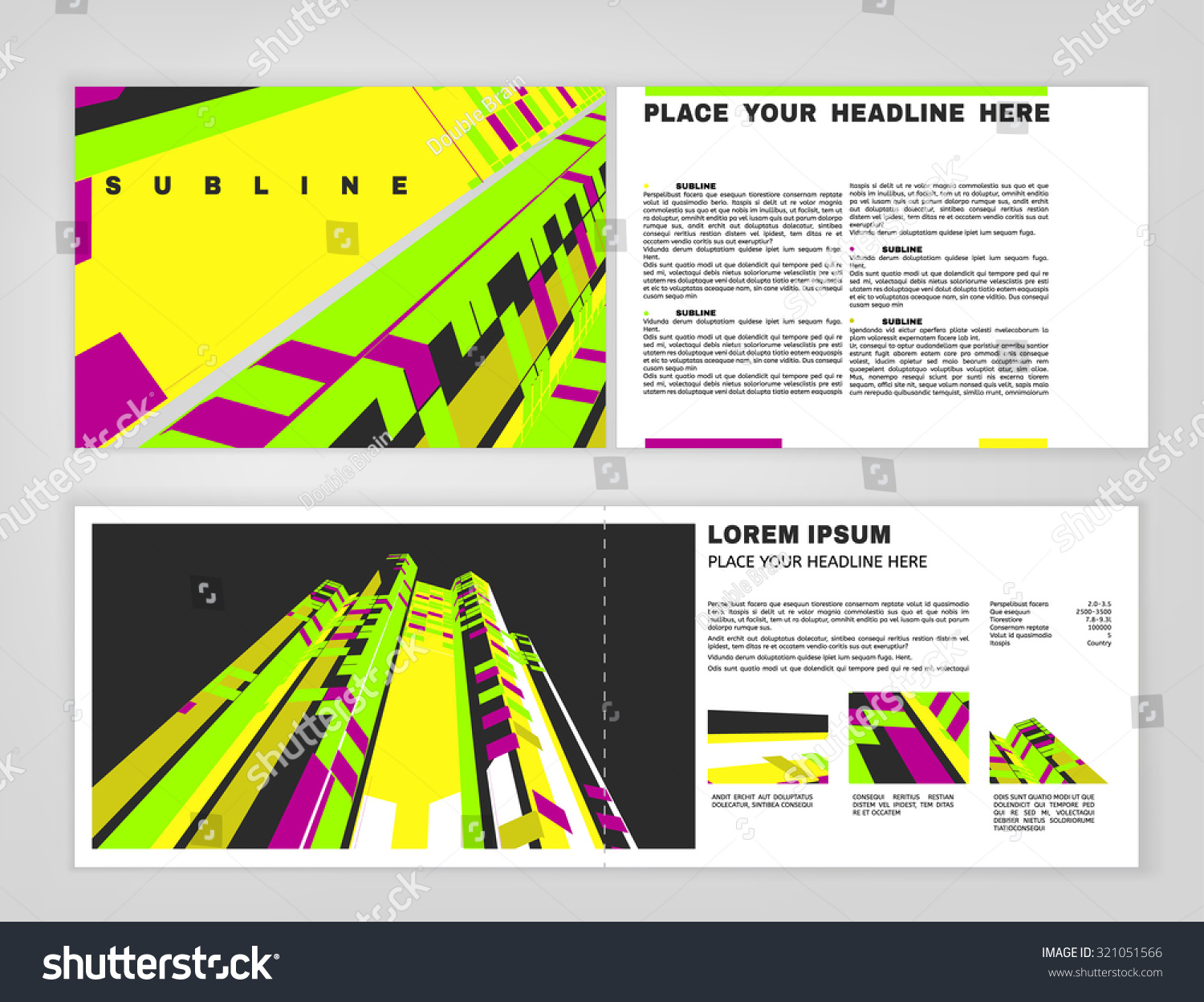 Vector Business Brochure Template. Bright Modern Backgrounds For Poster,  Print, Flyer, Book