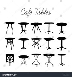 cafe silhouette table bar vector stools collection shutterstock music