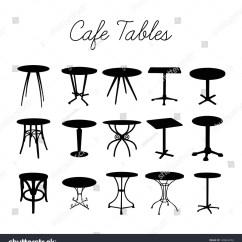 Antique French Bistro Table And Chairs Office Chair Covers Nz Vector Cafe Collection Silhouette Bar Stock 128826256 - Shutterstock
