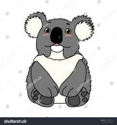 vector cartoon animal clipart lovely koala bear [ 1500 x 1600 Pixel ]