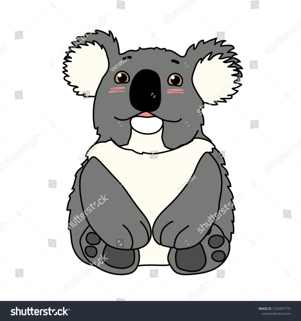 medium resolution of vector cartoon animal clipart lovely koala bear