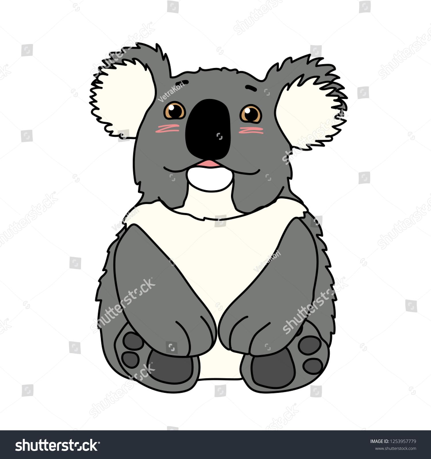 hight resolution of vector cartoon animal clipart lovely koala bear
