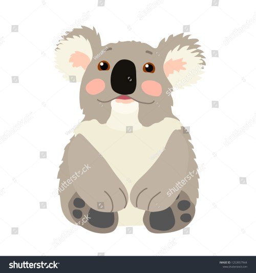 small resolution of vector cartoon animal clipart lovely koala bear