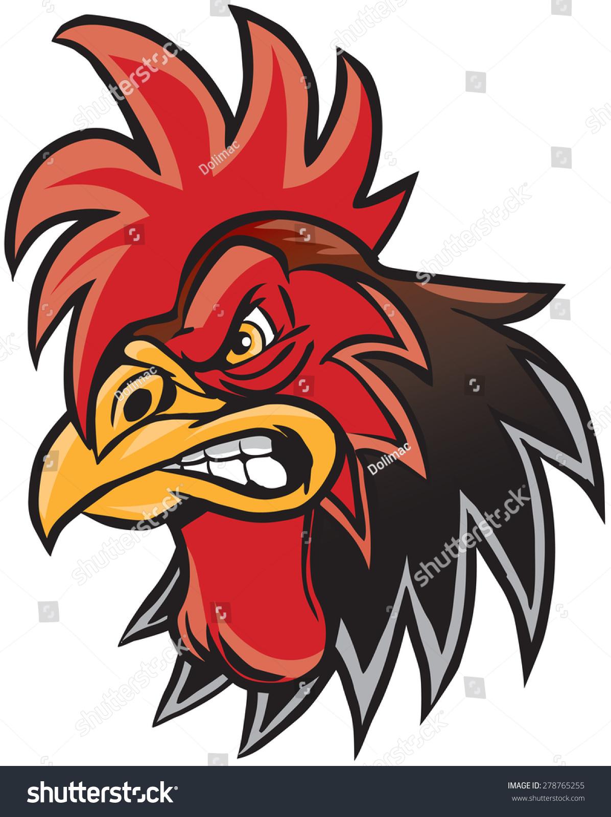 Logo Ayam Vektor : vektor, Vector, Cartoon, Illustration, Rooster, Stock, (Royalty, Free), 278765255