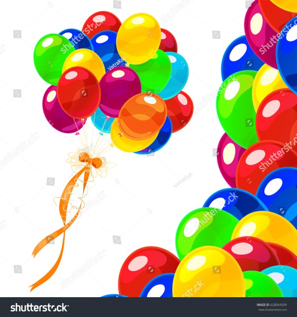 vector cartoon colorful bunch birthday